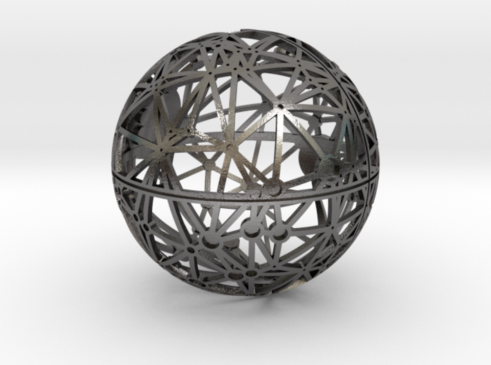 Craters of Rhea Desk Sculpture 3d printed