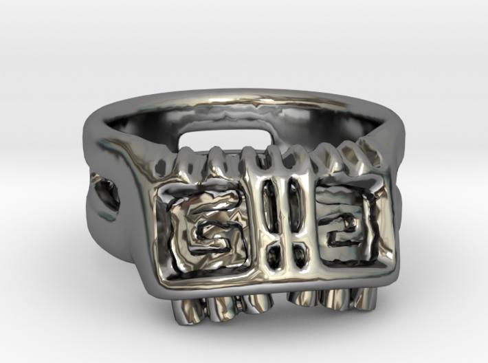 Hypnotic Monkey Skull Ring 3d printed