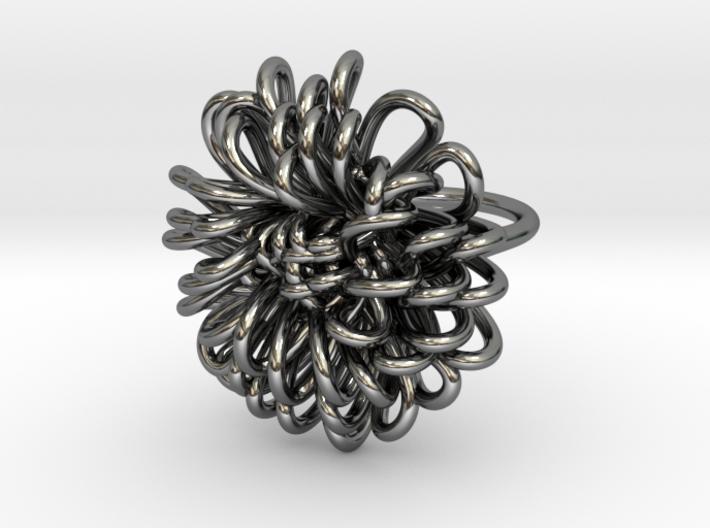 Ring 'Wiener Blume', Size 7.5 (Ø 17.7 mm) 3d printed