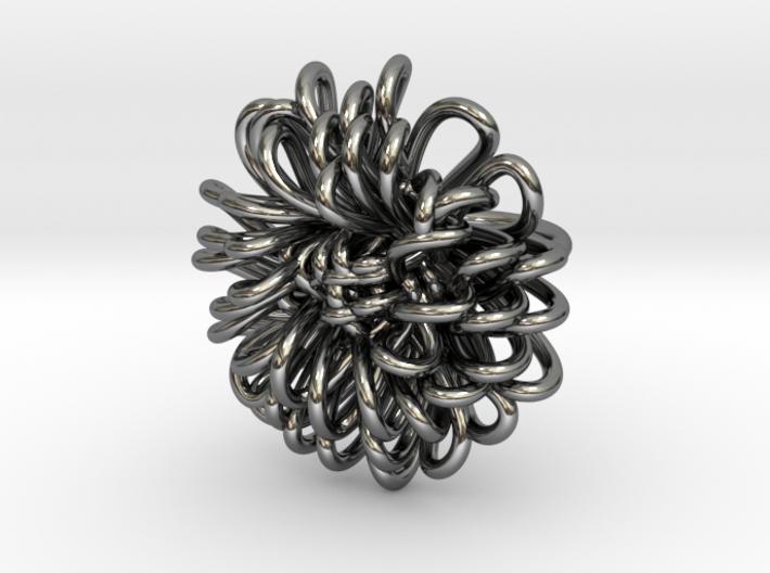 Ring 'Wiener Blume', Size 3.5 (Ø 14.4 mm) 3d printed