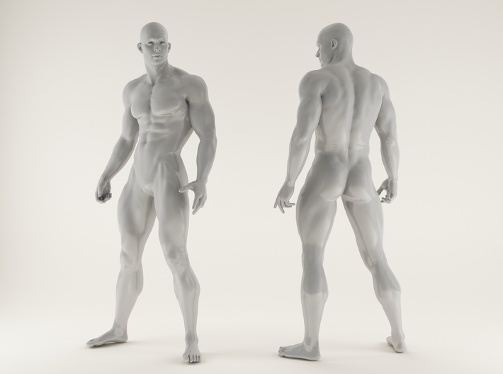 2016018-Strong man scale 1/10 3d printed