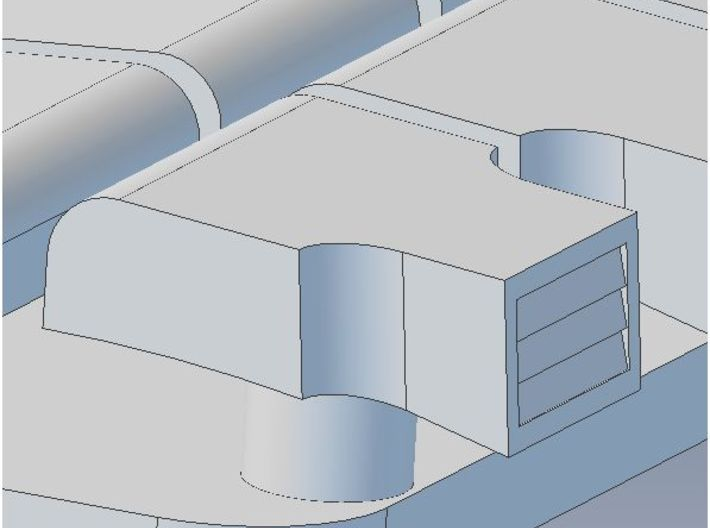 Garland Vent Arch Roof HO 3d printed