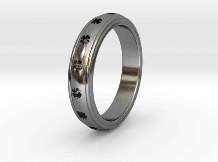 Ø0.788 inch/Ø20.02 Mm Clover Ring 3d printed