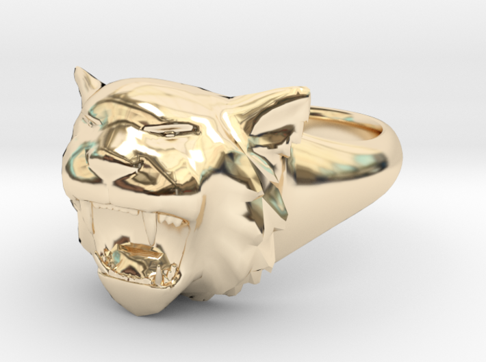 Awesome Tiger Ring Size 5 3d printed