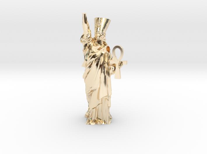 Nefertiti Liberty pendant 3d printed