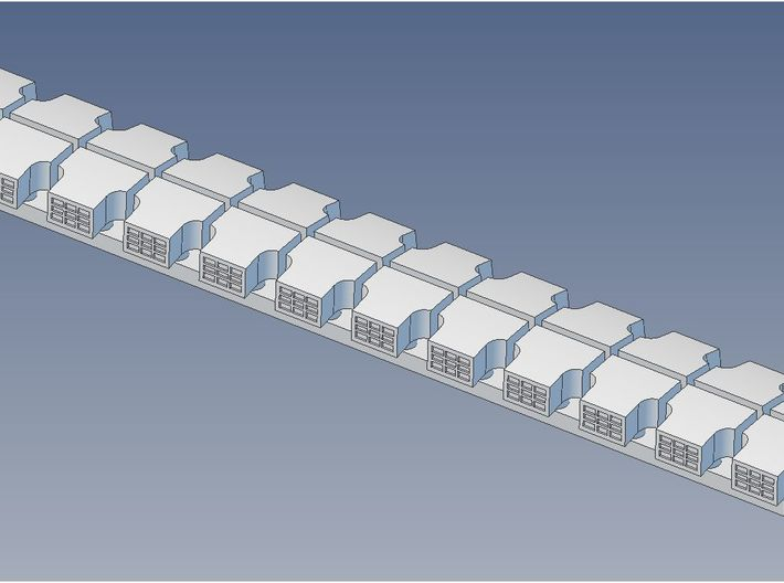 Garland Vent Clerestory Roof S 3d printed