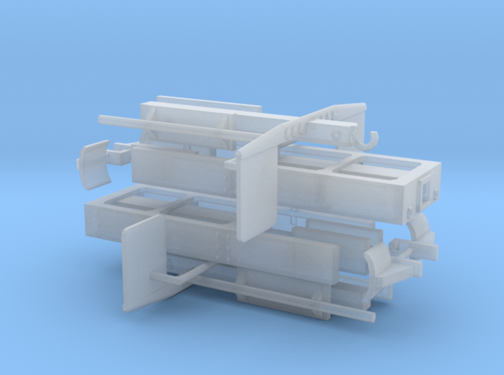 1/64th Log truck end frame 3 with details (2) 3d printed