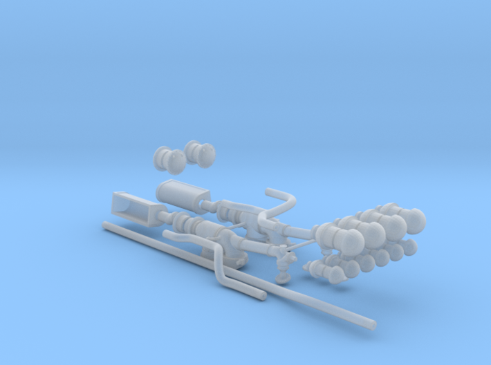 1/72 u-boat exhaust system 3d printed