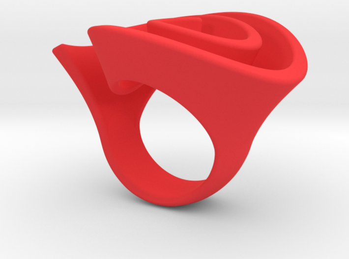 Curly Rose Ring 19mm 3d printed