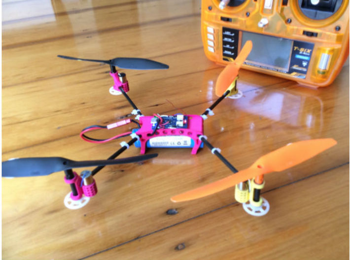 Honeycomb Drone Frame 3d printed