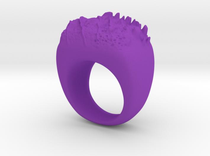 Moon Ring 3d printed