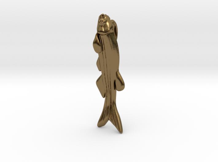 Zebrafish Pendant - Science Jewelry 3d printed