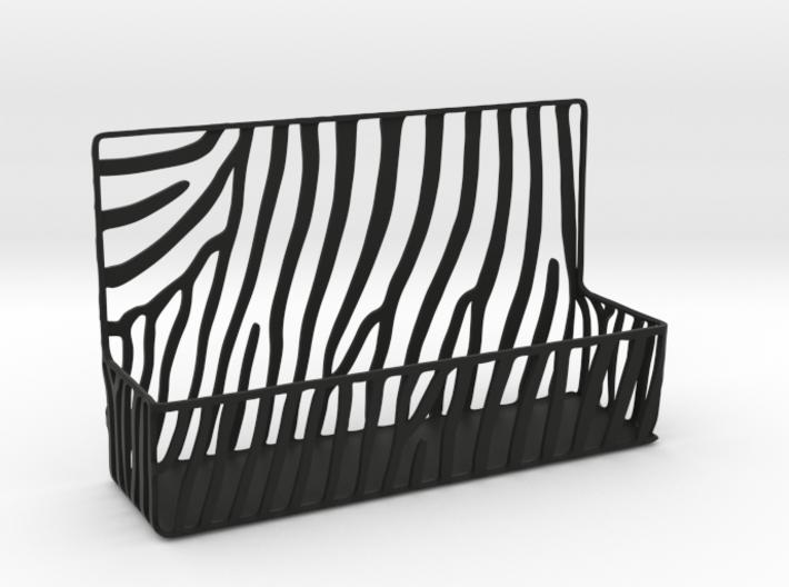 Zebra Business Card Holder 3d printed