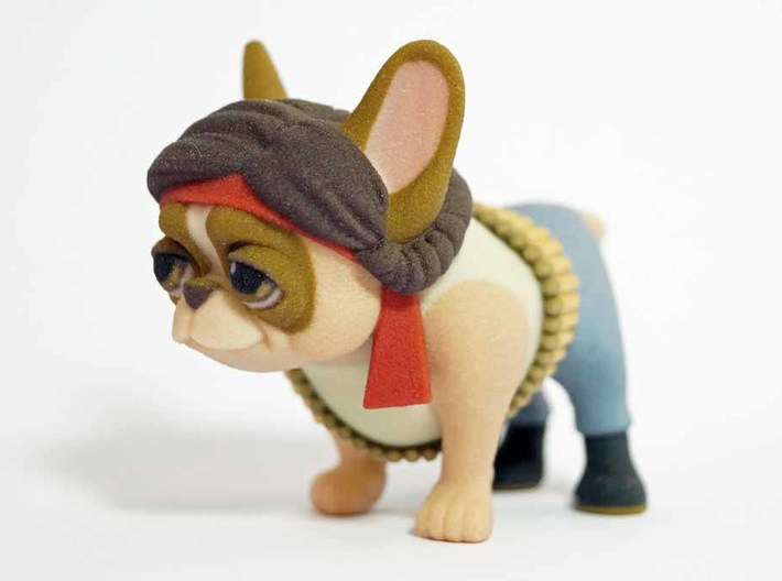 Rambo Frenchie 3d printed