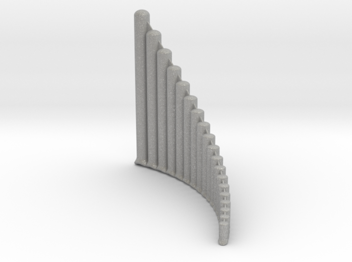 Ultra-lite Alto Panpipe, G1-G4 Right handed  3d printed