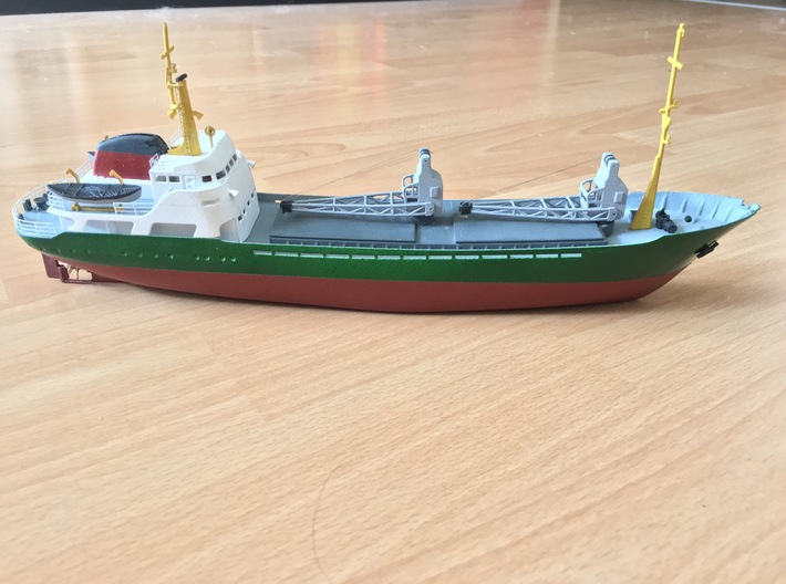 Coaster 840, Hull (1:200, RC) 3d printed total coaster model (assembled, painted)