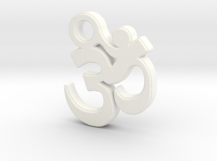Om Pendant (Devanagari) 3d printed