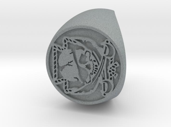 Custom Signet Ring 23 V2 3d printed