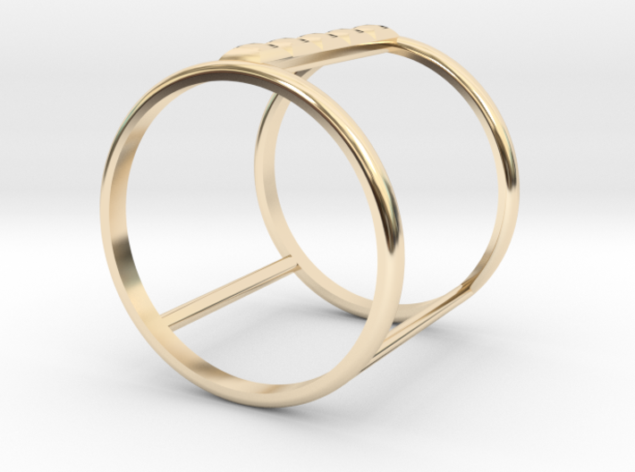Model Double Ring B 3d printed