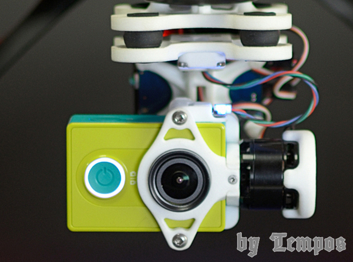 Objektivklemme / lens clamp for Xiaomi Yi 3d printed