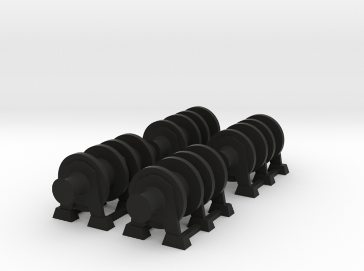 1/96 Scale Winches for Merchant Ship 3d printed