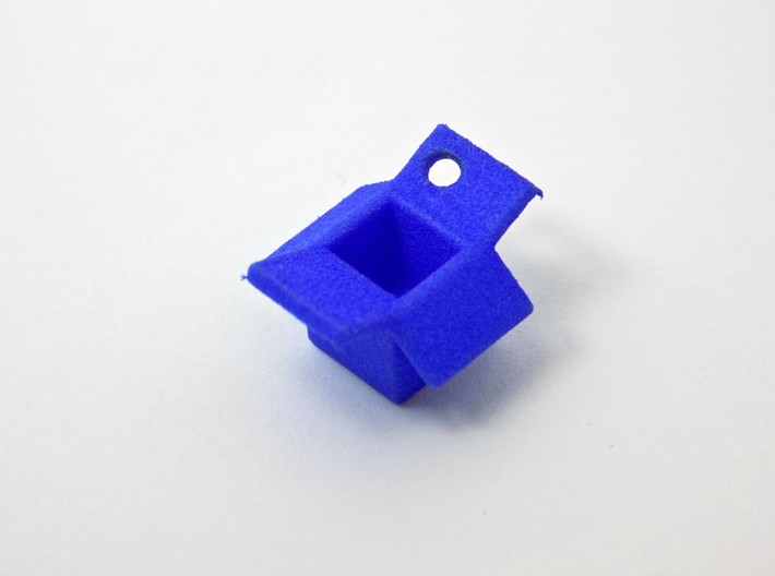 Open Box Keychain Charm 3d printed