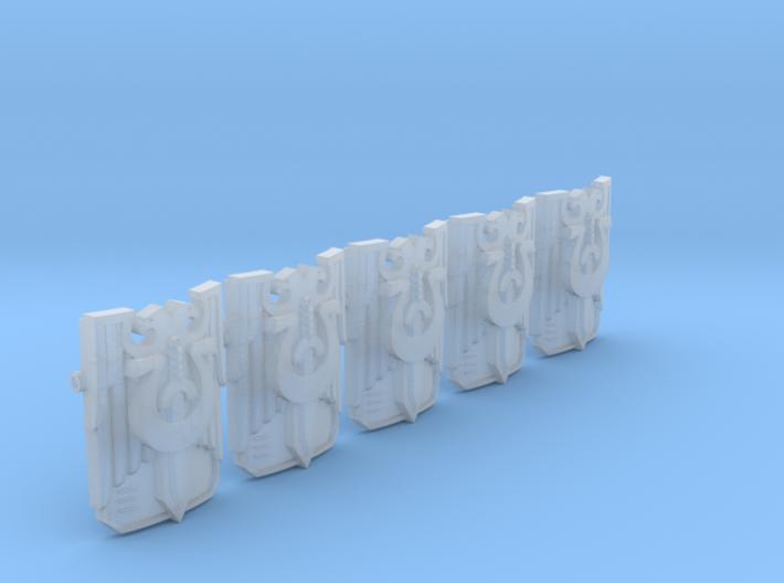 5x Ultra Legion Invictus Shields w/Gun 3d printed