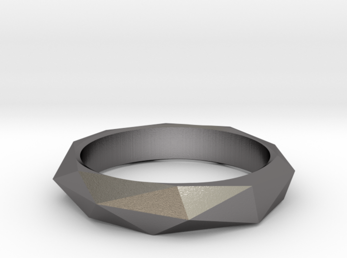 Geo Low Poly Ring Size 6.5-7 3d printed