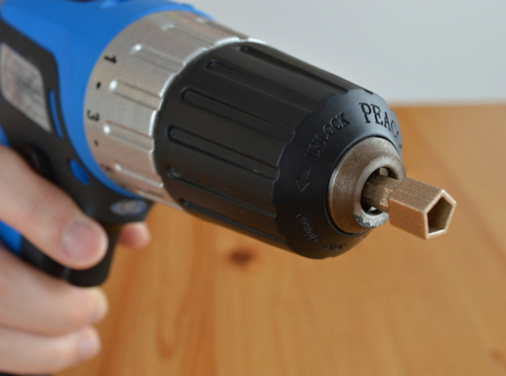 Coffee Grinder Bit For Drill Driver CDP-LRE 3d printed Set image (Drill chuck)