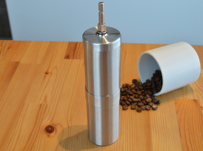 Coffee Grinder Bit For Drill Driver CDP-LRE 3d printed With Porlex Stainless Steel Coffee Grinder