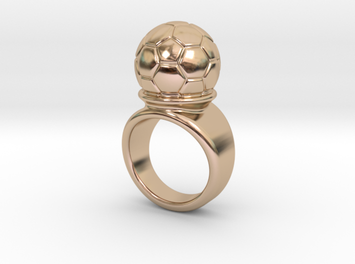 Soccer Ball Ring 15 - Italian Size 15 3d printed