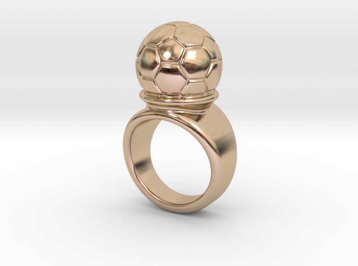Soccer Ball Ring 23 - Italian Size 23 3d printed