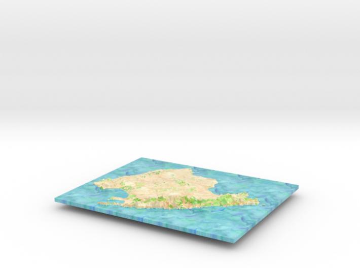Mallorca Map - Watercolor 3d printed