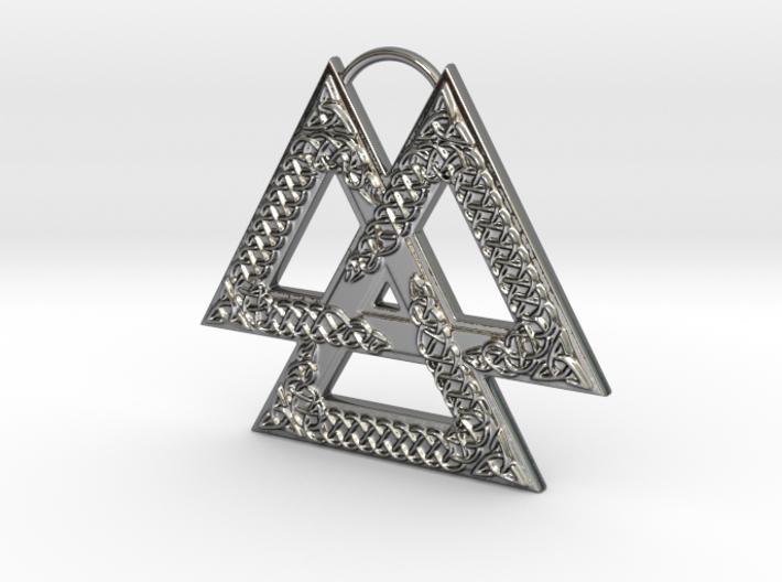 Knotwork Valknut 3d printed