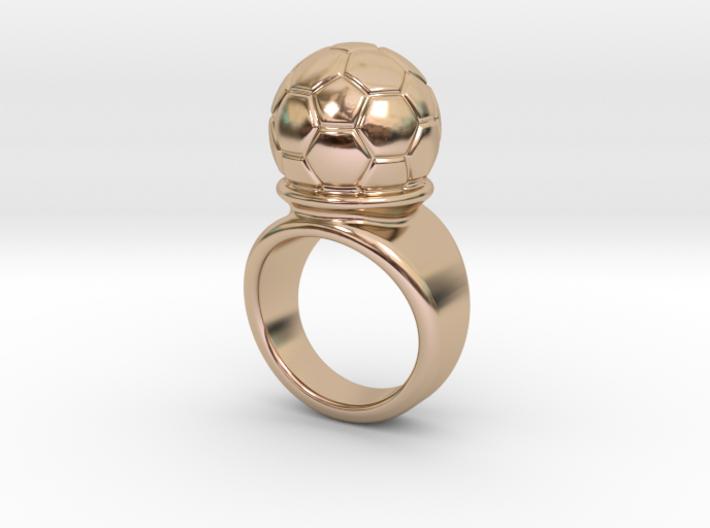 Soccer Ball Ring 27 - Italian Size 27 3d printed
