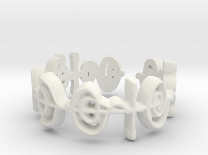 """Illogical"" Vulcan Script Ring - Cut Style 3d printed"
