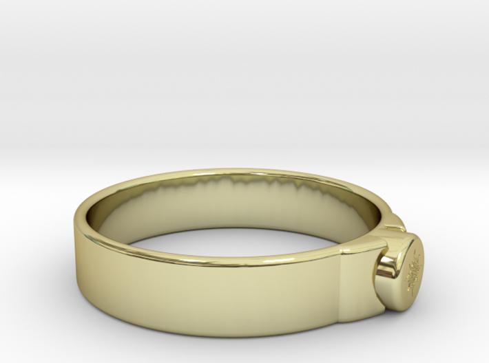 Ø0.781/Ø19.84 mm Maya Sun Ring 3d printed