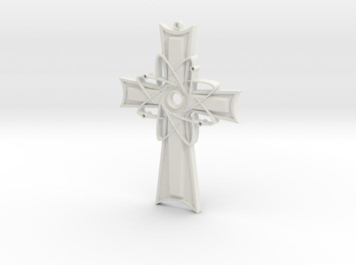 Atomic Cross Pendant (Beta) 3d printed