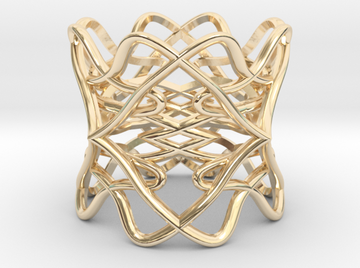 Ring The pattern/ size 6US (16.5mm) 3d printed