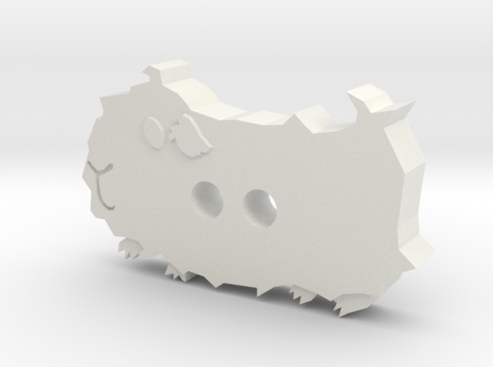 Abyssinian Guinea Pig Button 3d printed