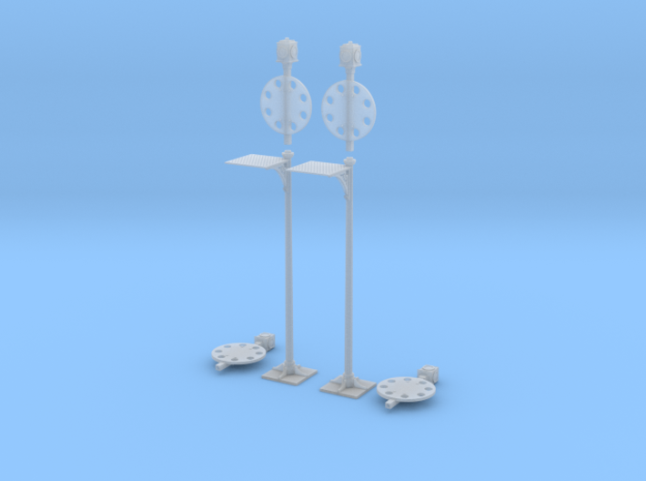 FR Disc Signal 7mm Scale Pair 3d printed