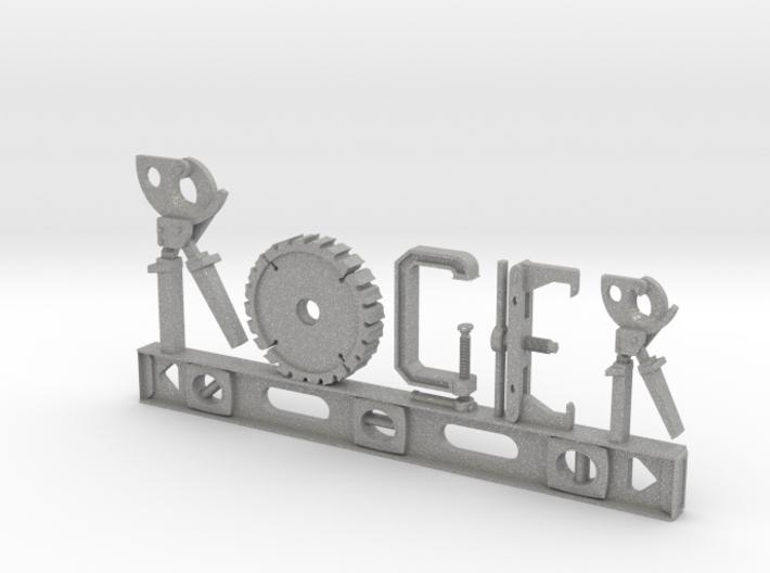 Roger Nametag 3d printed