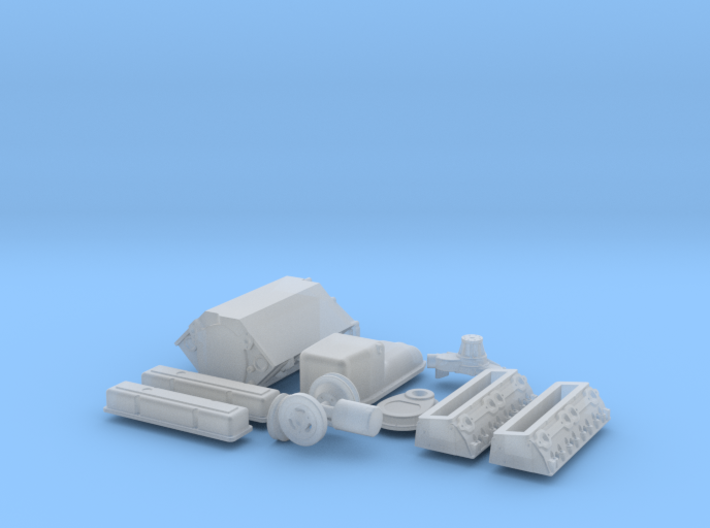 1/20 Small Block Chevy Basic Engine Kit 3d printed