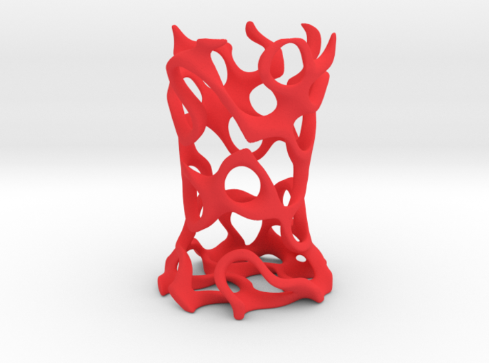Gyroid Toothbrush Holder 3d printed