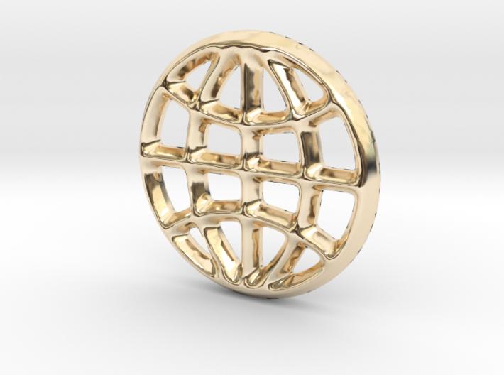 Globe Charm - 11mm 3d printed