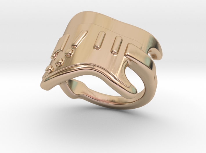 Electric Guitar Ring 15 - Italian Size 15 3d printed