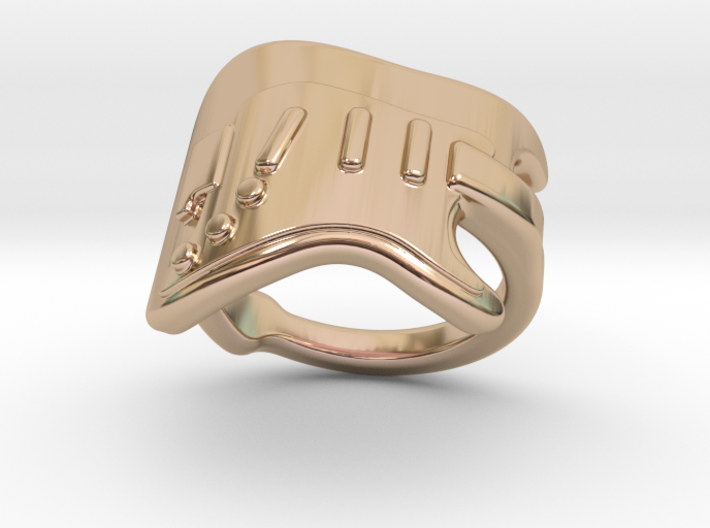 Electric Guitar Ring 16 - Italian Size 16 3d printed
