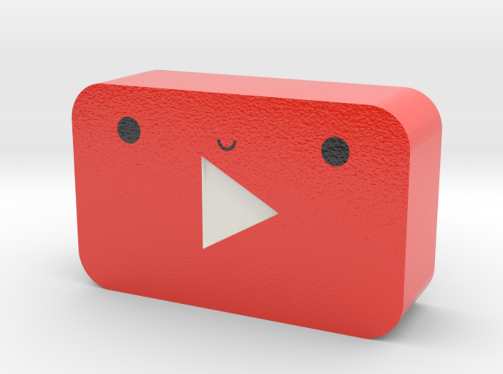 Kawaii Youtube Play Button 3d printed
