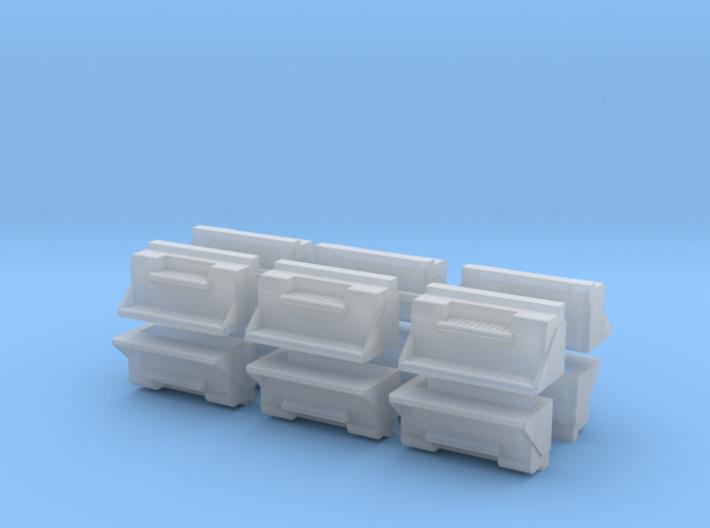 """1/50th 36"""" Kenworth Step Toolbox builders pack 12 3d printed"""
