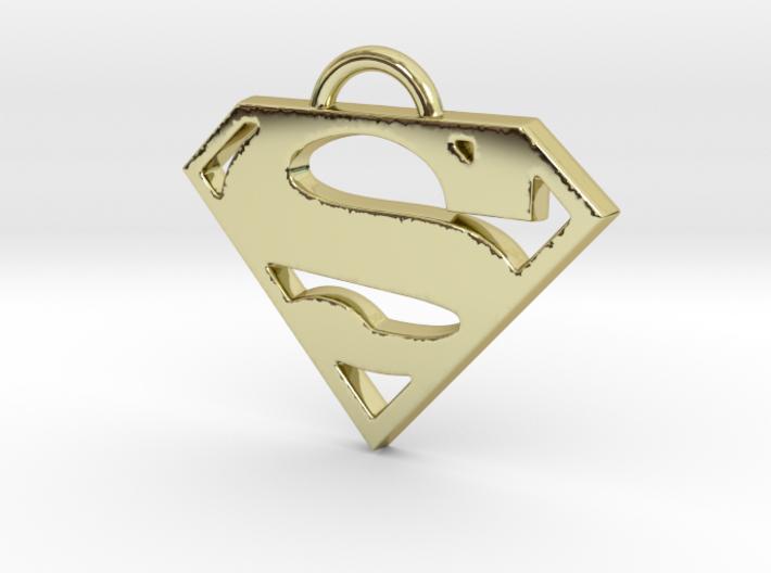 Superman Pendant 3d printed